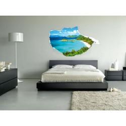 Vinyl 3D beach